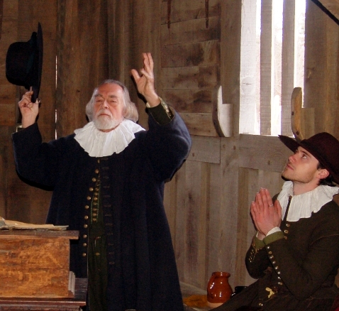Two Pilgrim Men at Prayer, Plimoth Plantation, Plymouth, MA