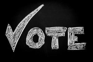Vote with checkmark