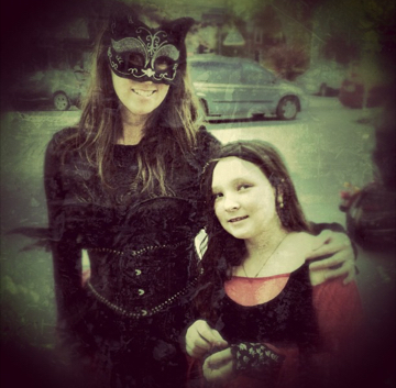 Me and my daughter: Halloween 2012 - Was this really FOUR years ago?!?