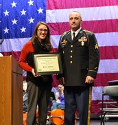 Katie Stone VFW Teacher of the Year!