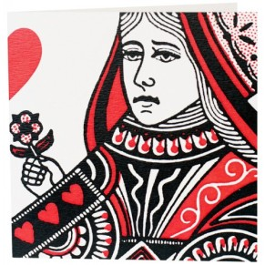 Image result for vintage playing cards red queen