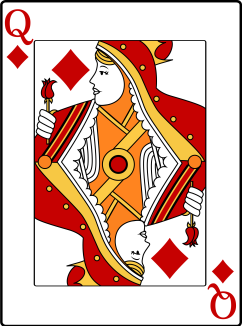 Image result for red queen of diamonds