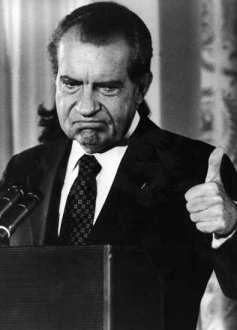 Thumbs Up From the 37th President Richard Nixon