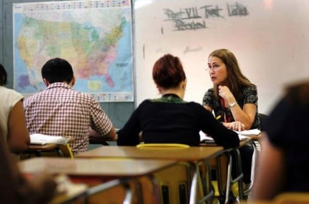 A new report shows teacher salaries have fallen nationwide over the last 10 years.